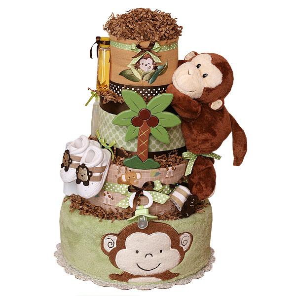 Memorable Find Jungle Monkeys Diaper Cake Making It
